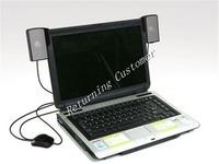3pcs New Arrive Loud Speaker USB Portable Mini Stereo Speaker for Laptop Soundbar Speaker system for Notebook Free Shipping
