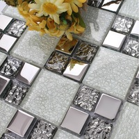 Crystal white glass mosaic kitchen wall tiles backsplash SSMT311 glass mosaic bathroom tiles glass mosaics