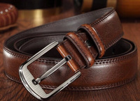 Men's leather belt large yards longer belt leather belt