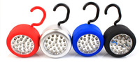Car Camping Hook Hanging Round 24 LED Magnetic Inspection Work light Lamp Flashlight Free Shipping