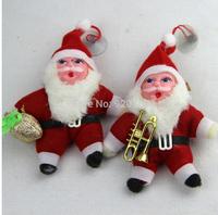20 PCS/lot Free Shipping christmas 2014 christmas decoration supplies santa claus,christmas supplies trumpet, christmas ornament