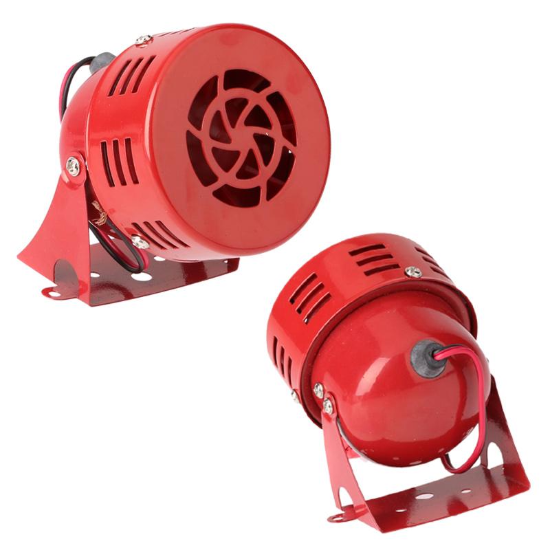 "12V 3"" Automotive Air Raid Siren Horn Car Truck Motor Driven Alarm Red(China (Mainland))"