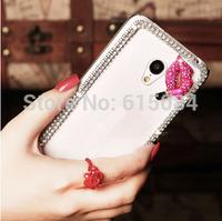3D Bling Case For Motorola Moto G2 G 2nd Gen XT1068 XT1069 rehinstone crown peacock flower lips bow case Mobile Phone cover