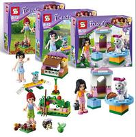 3pcs/Lot Bela Friends Series The Girl Villa Action Minifigure Buliding Block Bricks Toy Learning Education Compatible