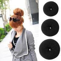 fashion hot sale headwear tool soft hair bun ring donut forner style design foaming ball shape hair band#L10115