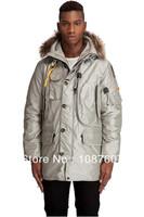 Kodiak Men Masterpiece Sand Beige Down Arctic Long Parka Man jacket Real Fur Hooded Coat Anorak Male Parkas Gobi Right Hand 903