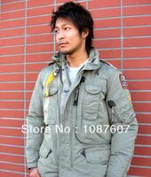 Winter Puffer Coat Hot Brand RIGHT HAND MAN 100% Down Jacket Sand Beige Short Parka Fur Outerwear Parkas Gobi Kodiak Down 629