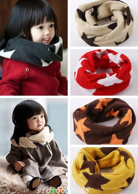 Kid Children Girl Knitted Woolen Winter Warmer Scarf Xmas Gift Children's scarf(China (Mainland))