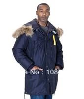 Hot Brand Kodiak Men Masterpiece Dark Blue Navy Down Arctic Long Parka Man jacket Anorak Male Parkas Gobi Winter Coat 903