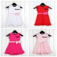 baby  dress summer children Dresses Clothing  girls  brand horse princess  dress