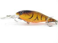 Fishing Lure Crankbait Hard Bait Medium Diver Wide Wobble Slow Floating Jerkbait C187 Fishing Tackle C187X4