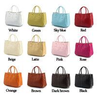 Woman Bags Fashion 2014 Casual Designer Clutch Shoulder Bag Women PU Leather Handbag White Green Sky Blue Red Beige Latte Pink