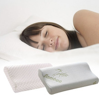 White bamboo fibre slow rebound memory pillow health care pillow space