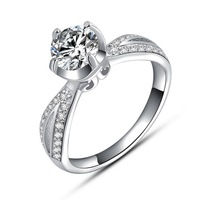 Ture Love Wedding Ring,925 Sterling Silver with Luxury Austria Crytsal,3 Layer Platinum Plated,Popular Ladies Ring Jewelry OR13