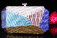 2014 Crystals Evening bag,Women Fashion Hard Case Metal Purses Party Handbags , CB6042-2