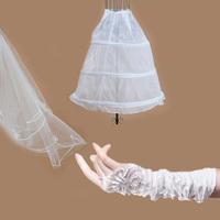 wedding accessories gloves veil pannier wedding dress piece set