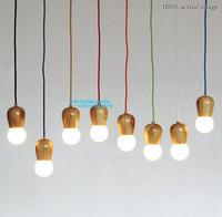 Original Wood Muuto E27 1pcs socket Suspension lamp lights DIY Hanging Wood Lamp Holder Pendant~No bulbs Free Shipping