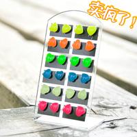 luminous mini stud earring,Wholesale very cute student stud earrings,12pairs/pack,120pairs/lot, Christmas gift