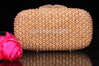 2014 Crystals Evening bag,Women Fashion Hard Case Metal Purses Party Handbags , CB0824-2