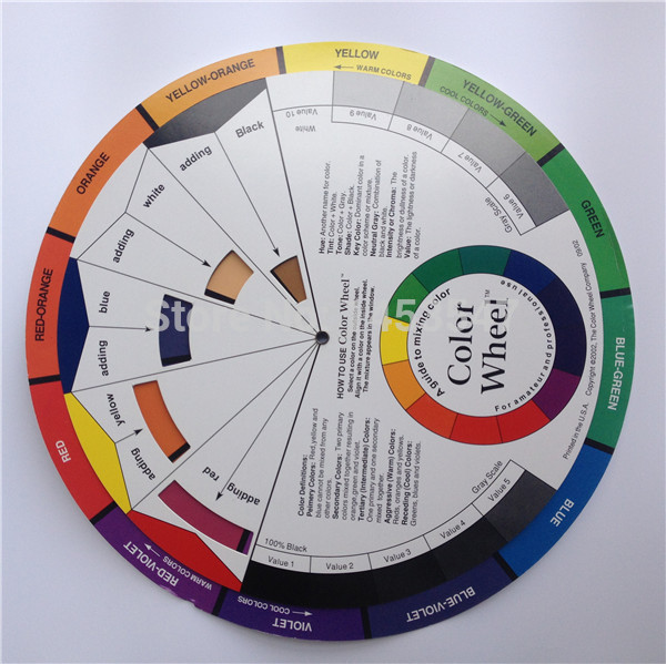 Free shipping 1pc biotouch tattoo permanent makeup accessories ink Color Wheel Swatches(China (Mainland))