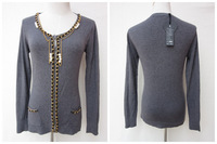 NEW!  Women Fashionable  Knitted  Sweater Cardigan sweater With Beading