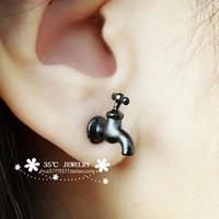 Rowky water-tap Faucet stud earring earrings male Women