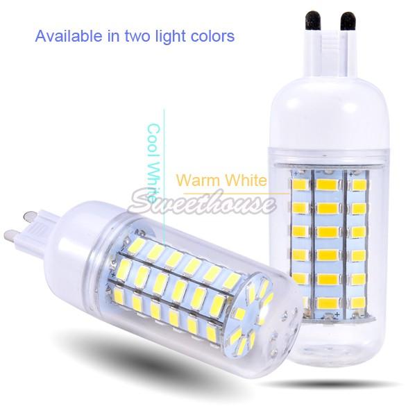 Newest SMD5730 10W G9 Led Bulb 220V/240V Warm White/ white, 56LEDs SMD5730 Led Lamp Corn Light SV03 SV010564(China (Mainland))