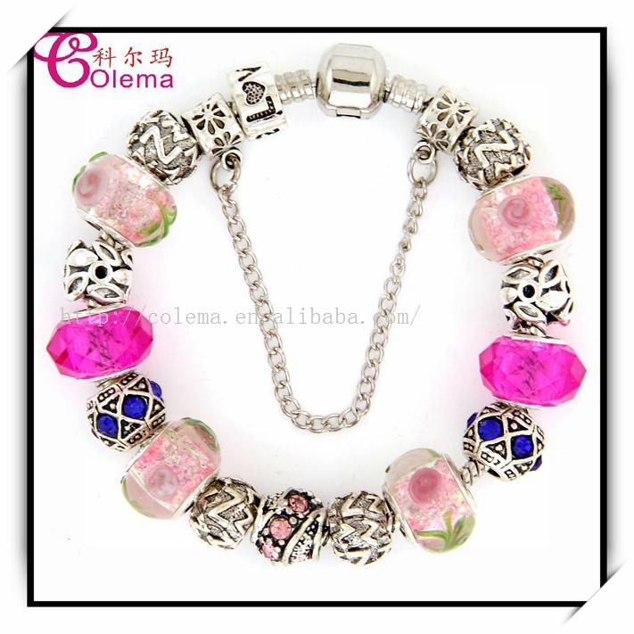 2014 New European Glass Crystal Beads Bracelet Fits Pandora Style Bangle Bracelets Charms LET32