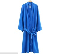 Free Shipping 2014  Newest Men and women couple Winter Mocrofiber Waffle Weave Cotton Bathrobe NightGowns