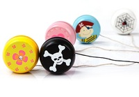 Nostalgic classic child baby toy wooden mini yoyo yo-yo ball