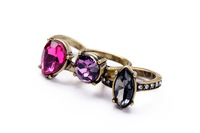 Retro atmosphere of luxury with rhinestones Ring for women New 2014 Fashion Vintage Jewelry Free Shipping JZ102705