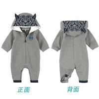 Children's clothing spring and autumn male jumpsuit romper infant sweatshirt tiger fleece romper