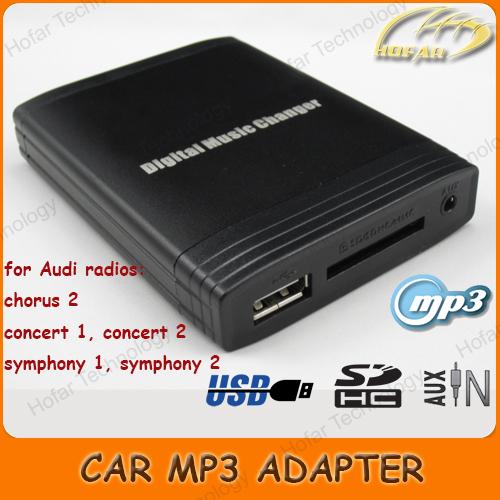 Digital Music Changer AUX SD USB MP3 Adapter Interface for Audi Radio chorus 2, concert 1, concert 2, symphony 1, symphony 2(Hong Kong)