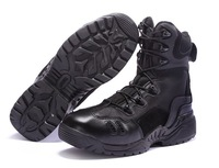 Loveslf Hot military boots patent leather military boots