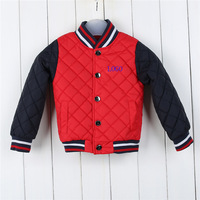 New winter boys and girls  fashion casual long-sleeved Thicken high-quality single-breasted stand collar padded children clothes