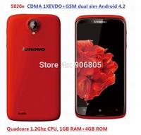 Lenovo S820E GSM+CDMA EVDO Android smart phone dual sim dual standby quadcore 1GB+4GB CDMA 2000 1X