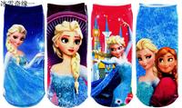 MW002 Free Shipping Frozen Girls Socks Summer Babys Cotton Socks Cartoon Child Normal Sneaker Socks 6 Pairs/1 Lot Kids retail