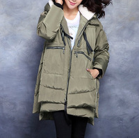 hotsale new elegant women winter duck down thick warm overcoats jackets ,plus size hooded casual winter long coats parkas 9830