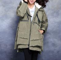 hotsale new elegant women winter duck down thick warm overcoats jackets ,plus size hooded casual winter long coats parkas 9830