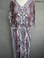 2014  Hot Sales Russian Market Cotton Kaftan Maxi Dress, India Style Tribal Pattern Caftan Dresses ,Tunics