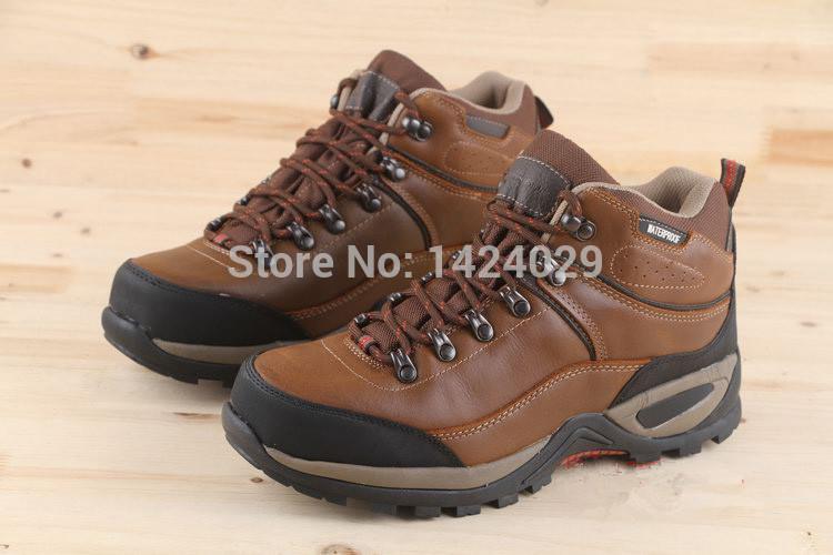 frete grátis novo item couro genuíno outono inverno impermeável anti- derrapante caminhadas botas/sapatos esporte ao ar livre sapatos sapatos(China (Mainland))