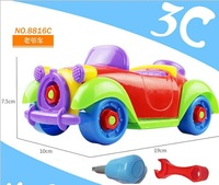 8816C can be repeated disassembly disassembly toys children's puzzle vintage car plastic dismantling car