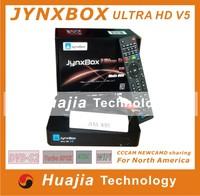1pc Original JynxBox Ultra HD V5 Plus Satellite Receiver +1080p Full HD+8PSK+Wifi Jynxbox V5+ for America market free shipping