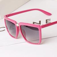 Lovey Fashion Women/men Brand Design Korean Big Frame Oversized Sunglasses Retro Square Gradient Uv400 Sun glasses