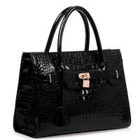 New 2015 women handbag crocodile pattern bag fashion casual elegant shiny handbag shoulder bags women messenger bag women totes