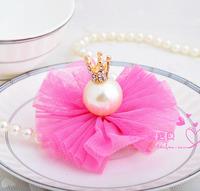 Pearl hairpin accessories child hair accessory hair pin three-dimensional bling hair accessory princess accessories