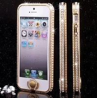 For  for iphone5 5s phone case with key press for iphone5 rhinestone for luxury 4s metal diamond full rhinestone female