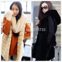 New 2014 women medium-long Fleece vest fashion hooded female autumn winter thickening fur vest waistcoat outerwear Free Shipping