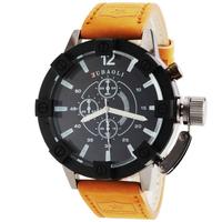 2014 New Genuine Leather Strap Men Watch Military Sports Watches Men Luxury Brand Quartz Wristwatches Casual Watches