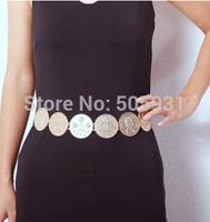 Vintage Flower Golden Coin Belt Adjustable Fashion Women Accessories